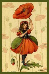 Poppy girl - Margaret Winifred Tarrant (1888-1959)